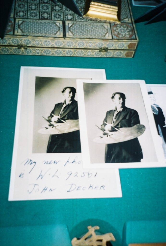 John Decker RememberedSome original photos of Decker with his art board.