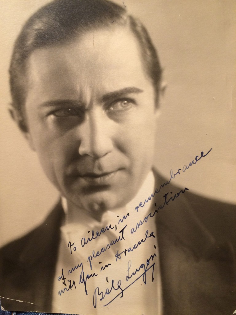 Bela Lugosi signed this to Aileen Webster