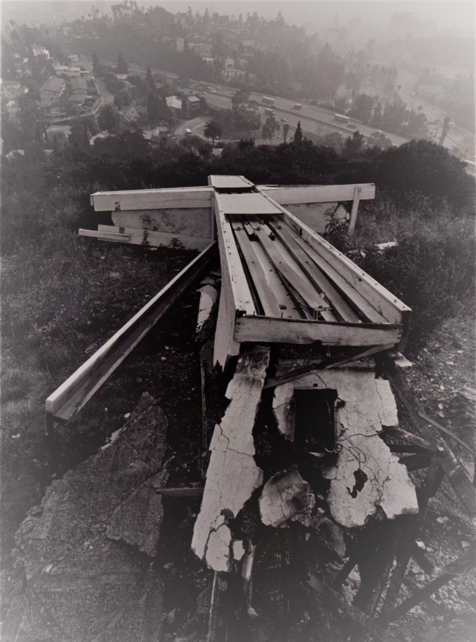 Old Cross Destroyed by vandals