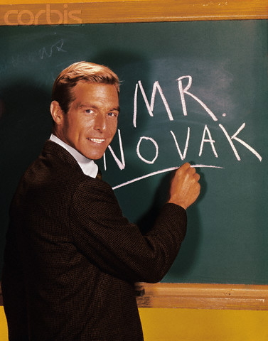 ca. 1960s --- James Franciscus, as his character John Novak, from the TV series Mr. Novak (1963-65) --- Image by © Corbis